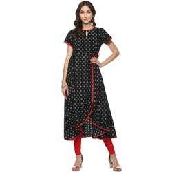 Yash Gallery Printed Anarkali Cotton Kurta