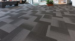 1000 Square Feet Plain Commercial Carpet Tile Flooring