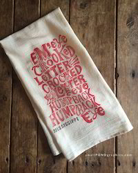 Cotton Printed Tea Towels