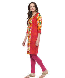 3/4th Sleeve Multi Colour Printed Kurta