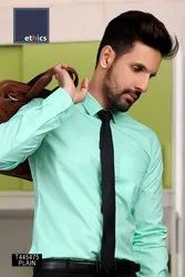 Sea Green Plain Corporate Uniform Readymade Shirts T-445475