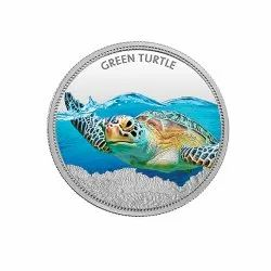 Green Turtle 31.10 gm. Coin