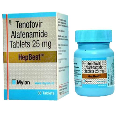 Hepbest 25 Mg Tablets, टेनोफोविर अलफेनामाइड - Singhla Medicos, Delhi | ID:  21654906397