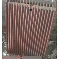 Rectangular Mn Steel Casting, , For Used In Stone Crusher