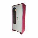 White And Pink Double Door Steel Almirah, Warranty: 1 Year