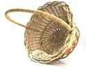 Brown Bamboo Handicraft Fruit Basket