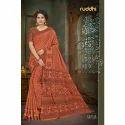 Ladies Pure Manipuram Banarasi Printed Saree, Length: 5.5 M