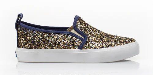 Female Glitter Sneaker Shoes, Size: 36