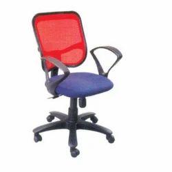 Blue Fabric Revolving Chair