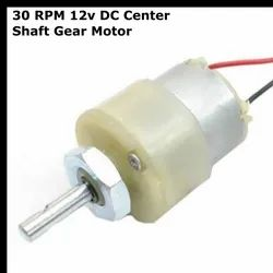 30 RPM 12v DC Center Shaft Gear Motor