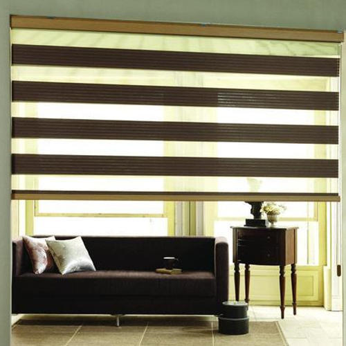 Brown Vertical Zebra Blind