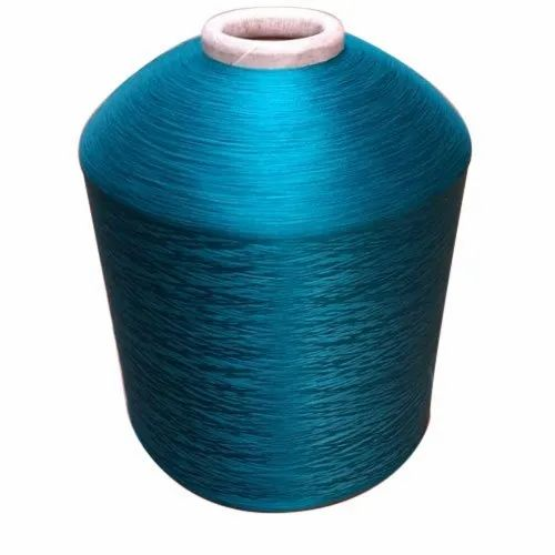 Blue Textile Dyed Polyester Yarn