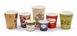 Designer Paper Cups, Capacity: 50-200 ml, Packet Size: 100 Pcs