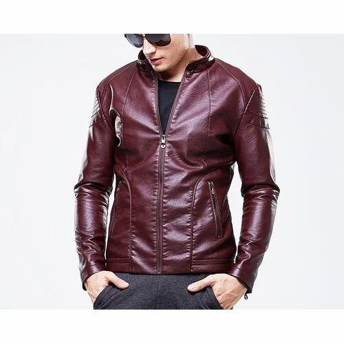 ca4c6bb16751 Small Dark Maroon Men  s Designer Leather Jacket