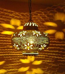 Glass Matki Lamp