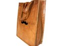 Genuine Leather Mustache Tote Bag