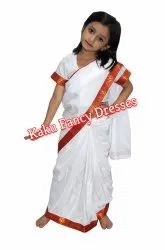 Kids Teacher White Saree
