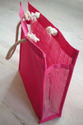 Dyed Jute Bag With PVC Gusset