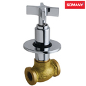 Stainless Steel Somany Xylo Concealed Stop Cock With Wall Flange For Bathroom Fitting