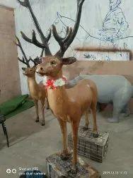 Deer Christmas Statue