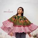 Ladies Embroidered Khadi Poncho Top