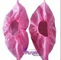 Non Woven Pink Single Use Disposable Shoe Cover, For Surgical