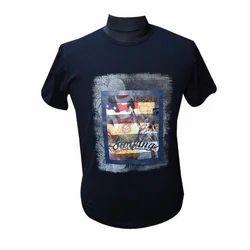 Men's Printed Round Neck T Shirt