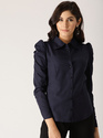 NAVY BLUE SOLID SHIRT