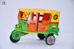 Wooden Auto Rickshaw Miniature Handicraft