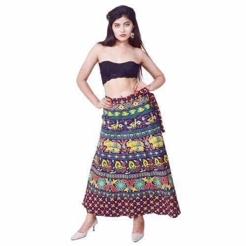 d138ec0e89 Indian Sarong Block Print Cotton Wrap Skirt, Rs 400 /piece | ID ...