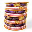 Indian Handicraft Imitation Jewelry Silk Thread Bangles