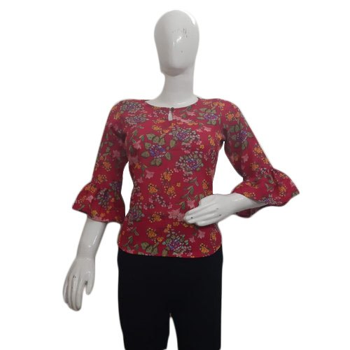 Cotton Casual Ladies Printed Top