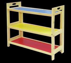 Wood O Plast Wooden Kids Multipurpose Storage Rack - 3 Shelves, Size/Dimension: Medium