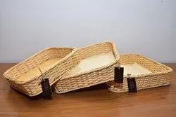 Hand made Cane Basket Set Of 3