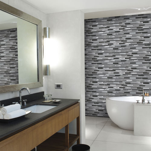 Gloss Ceramic Bathroom Wall Tile, Thickness: 6