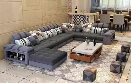 fabric sectional sofa set l type sofa fowmi inventions opc rh indiamart com sectional sofa setup ideas sectional sofa set with ottoman