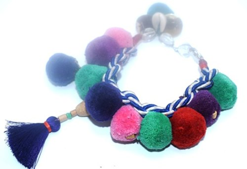 Various Unisex Polyester Pom Pom Jewelry, 40 Grams Per Meter