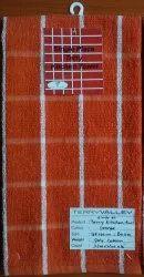PolyCotton Check Terry Kitchen Towel, 38 X 60cm - 80gms