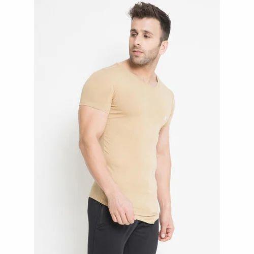 05cb3e4353753c Mens Half Sleeve Body Linch Tee Bage T-Shirt