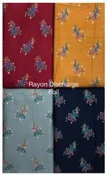 Rayon Discharge Foil Fabric