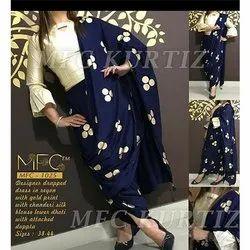 MFC 1025 Designer Drapped Dress