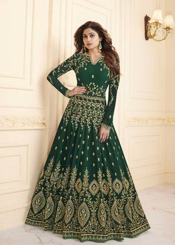 46d7844d4a Party Wear Elegant Georgette Floor Length Anarkali Suit