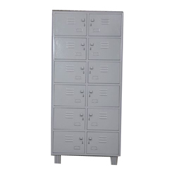 Color Coated Gray Industrial Storage Locker, Size: 78x36x19 inch