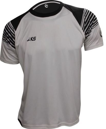 8d97210b715 Aks Sports Small and Large Black   White Front Full Sublimation Print Sports  T-Shirt