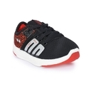 Campus Btc-02-blk-red Battle Kids Lace Ups Shoes, 8 And 11