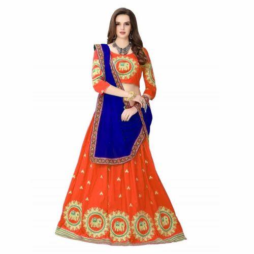 bea43a501a Banglori Silk Orange Elephent Designer Lehenga Choli, Rs 799 /piece ...