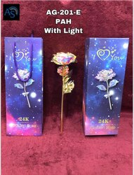 valentain day special 24 caret gold plated rose with led