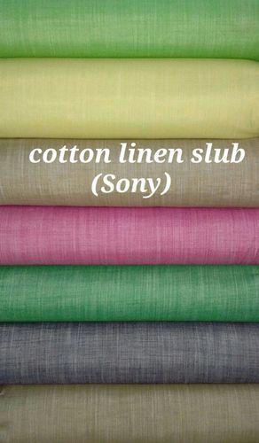 Cotton Linen Slub Shirting Fabric (Sony)