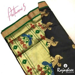Party Wear Paithani-5 Pure Silk Saree, Length: 5.5 m (separate blouse piece)