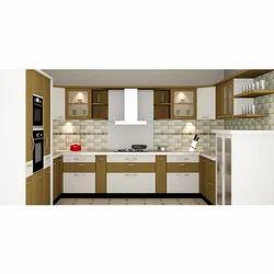 U Shape Designer Modular Kitchen